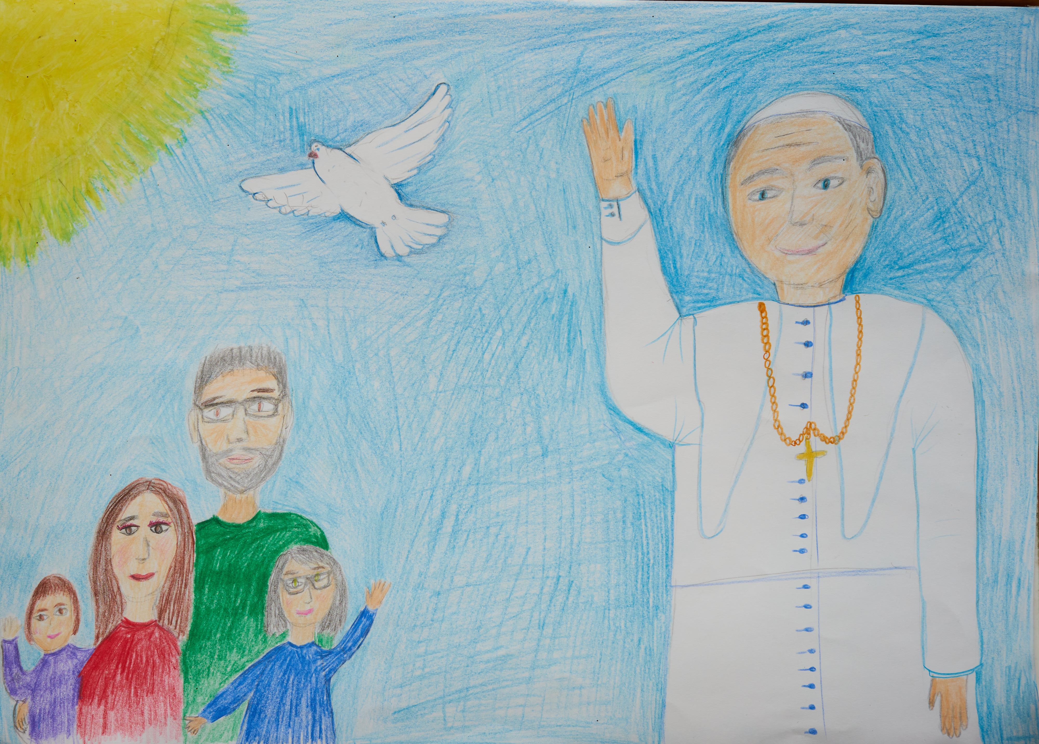 Konkurs Plastyczny: Św.  Jan Paweł II - Przyjacielem naszej rodziny, 100 lecie urodzin Św. Jana Pawła II. Wspólnota Modlitewna Św. Jana Pawła II w Wiedniu